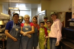 Service Learning Club makes and serves a meal to those in need